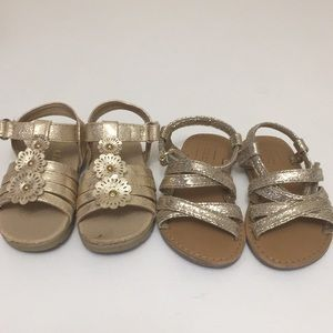Other - Size 4T & 5T Gold toddler sandals good condition